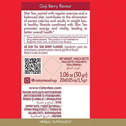 Riston Slim Tea Goji Berry Slim Tea Green Detox Tea 100% Natural Herbal Promotes Energy and Vitality, Individually Foil Wrapped Herbal Tea | 20 Tea Sachets/pack (Goji Berry) 7