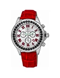 Pro Diver Grand Diver Chronograph Stainless Steel Case Leather Strap Silver Tone Dial