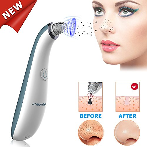 Blackhead Remover Vacuum Pore Cleaner - Zerhunt Electric Facial Pore Cleanser Microdermabrasion Machine,Rechargeable Comedone Acne Extractor With 4 Multi-Functional Probe For Men Women