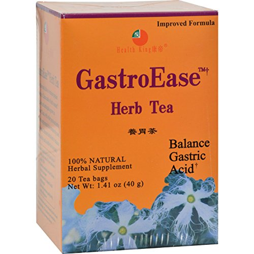 Health King GastroEase Herb Tea - Balance Gastric Acid - Natural - 20 Tea Bags (Pack of (Gastroease Herb Tea)
