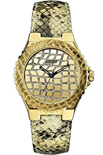 GUESS W0227L2 Women's Gold-Tone Exotic Sport Watch