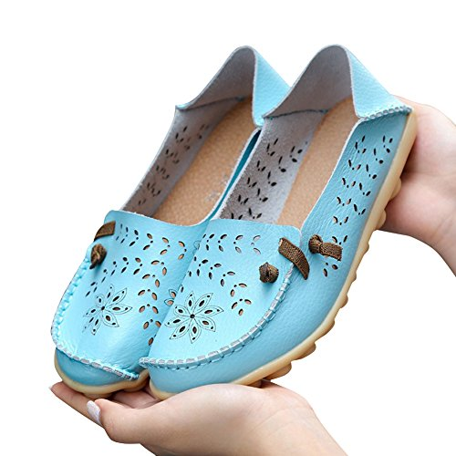 Flat Hollow Moon Loafers Summer Womens Shoes Casual Slippers Blivener 7xIAq