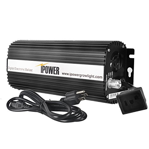 iPower 600 Watt Digital Dimmable Electronic Ballast for HPS MH Grow Light ()