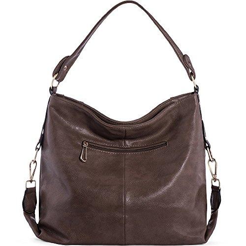 Shoulder Handbags Black Chestnut For Bags Ladies UTAKE Top Hobo Handle Handbags for Women's Women Purse PU Leather rxqAWrIgwS