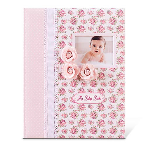 Baby Memory Book - Milestone Journal for Baby Girl - First 5 Years Scrapbook with Keepsake and Stickers - Classic Design for Babies - Ideal for Baby Shower and Mother