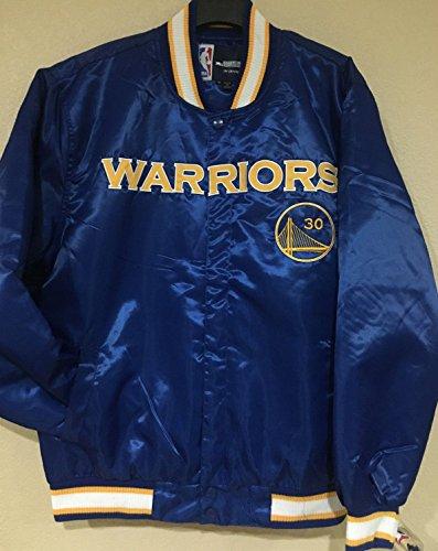 NBA Men's Golden State Warriors Stephen Curry #30 Satin Jacket (4XL) by J.H. Design