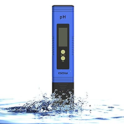 DOY PH Tester Meter Digital for Water, Hydroponics, Aquarium, Pool & Food PH Test for Hydroponics(0.01/High Accuracy/- 0.05 and 0.00-14.00 Measurement Range)