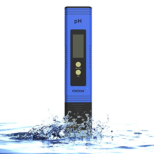DOY PH Tester Meter Digital for Water, Hydroponics, Aquarium, Pool & Food PH Test for Hydroponics(0.01 / High Accuracy /- 0.05 and 0.00-14.00 Measurement Range)-Blue