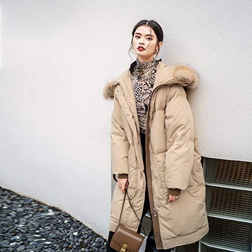 WX-ICZY Mode Longue Veste en Duvet, Mesdames élégant Chaud épais Lourd Casual Duty Down Jacket,M
