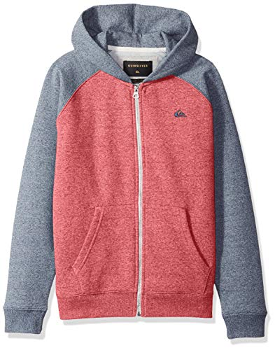 (Quiksilver Boys' Big Everyday Youth Zip UP Jacket, Garnet Heather, S/10)