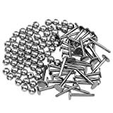 PiercingJ 100 Sets 16G Stainless Steel Replacement Ball Beads Spike Barbell Tongue Ring Labret DIY Piercing Jewelry Accessories