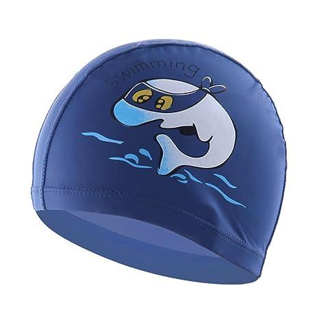 Boomly Bambino Bambini Cartone Animato Cuffia da Nuoto PU Impermeabile  Cuffia da Nuoto Cuffie antirumore Cuffia 4721fb408eb7