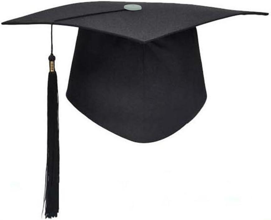 Birrete Graduacion Adulto LUOEM Sombrero Graduacion con Borla Negro