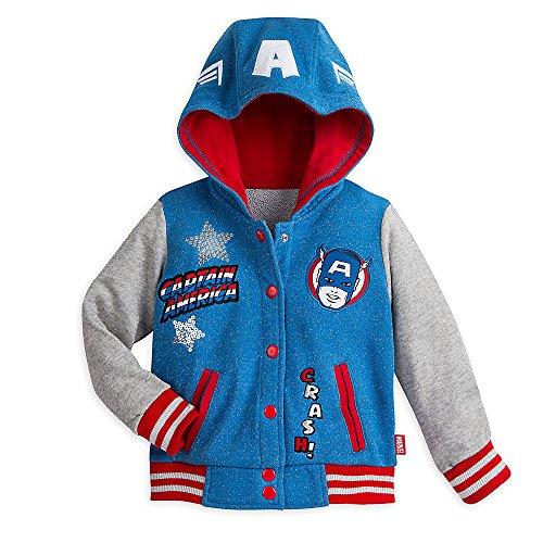 kids captain america jacket - 4