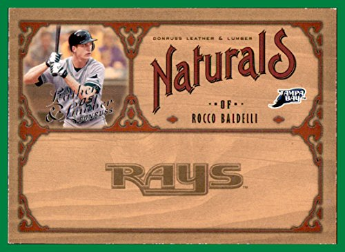 (2005 Donruss Leather and Lumber Naturals #18 Rocco Baldelli SERIAL #1286/2000 TAMPA BAY DEVIL RAYS)