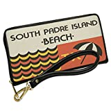 Wallet Clutch US Beaches Retro South Padre Island Beach with Removable Wristlet Strap Neonblond