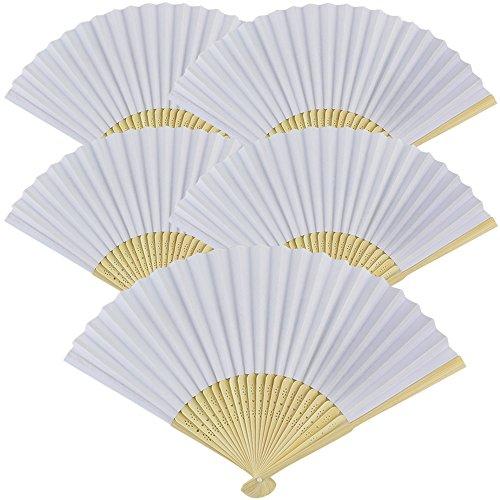 (Just Artifacts Folding Paper Hand Fan 8.25