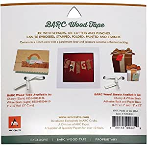 Barc Wood Adhesive Tape 1x15'-White Birch