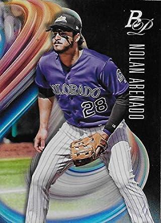 Amazoncom 2018 Bowman Platinum Baseball 76 Nolan Arenado