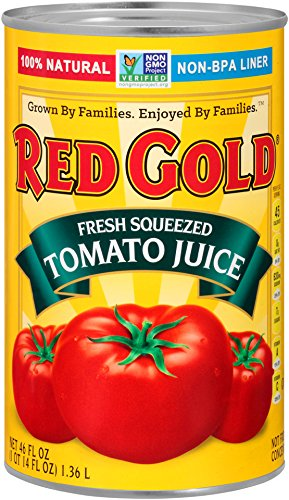 Red Gold Fresh Squeezed Tomato Juice, 46oz Can (Pack of 12)