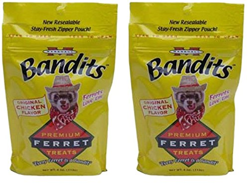 (2 Pack) Marshall Bandit Ferret Treats, Chicken Flavor - 3 Ounces each