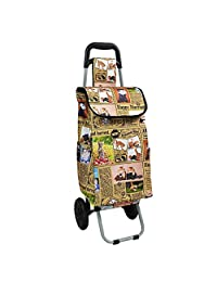 Carry-on Baggage Portable Shopping cart Trolley Stair Climbing cart Collapsible Luggage Trailer (Color : C)