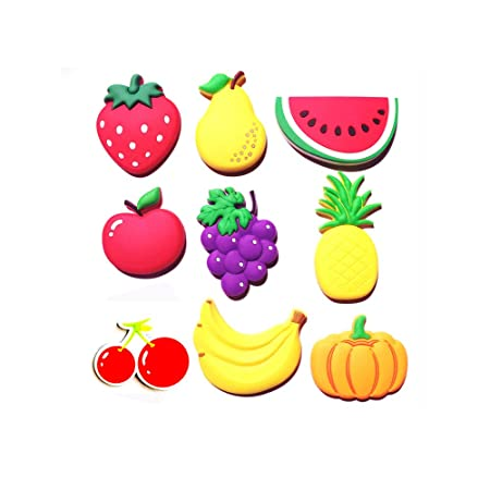 ZWANDP 9 Dibujos Animados de Frutas Lindas Pegatinas magnéticas ...
