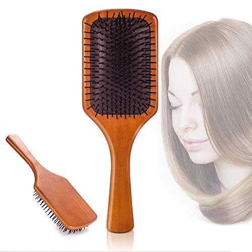 Hair Brush Bamboo Paddle Hair Brush Comb for Straight, Curly, Wavy, Long, Short Hair Women and Men