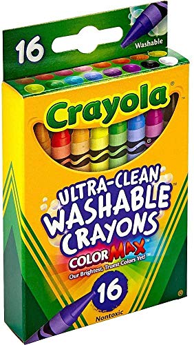 Crayola Ultra-Clean Washable Crayons (526916), 16 Colors