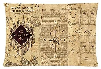 harry potter karte des rumtreibers Harry Potter Karte des Rumtreibers, rechteckige Kissen 20 x 30