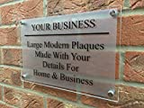 Business Plaque - Glass Effect Acrylic Plaque - Office / Commercial sign