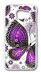 Brian114 Case, S6 Case, Samsung Galaxy S6 Case Cover, Butterfly 2 Retro Protective Hard PC Back Case for S6 ( white )