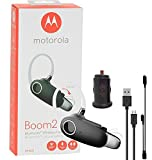 Motorola Boom 2+'HD Flip Bluetooth - Water Resistant Durable Wireless Headset W/Car Charger, (US Retail Packing