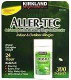 Kirkland Signature Aller-Tec-Cetirizine Hydrochloride Antihistamine 10mg, 300 Tablets