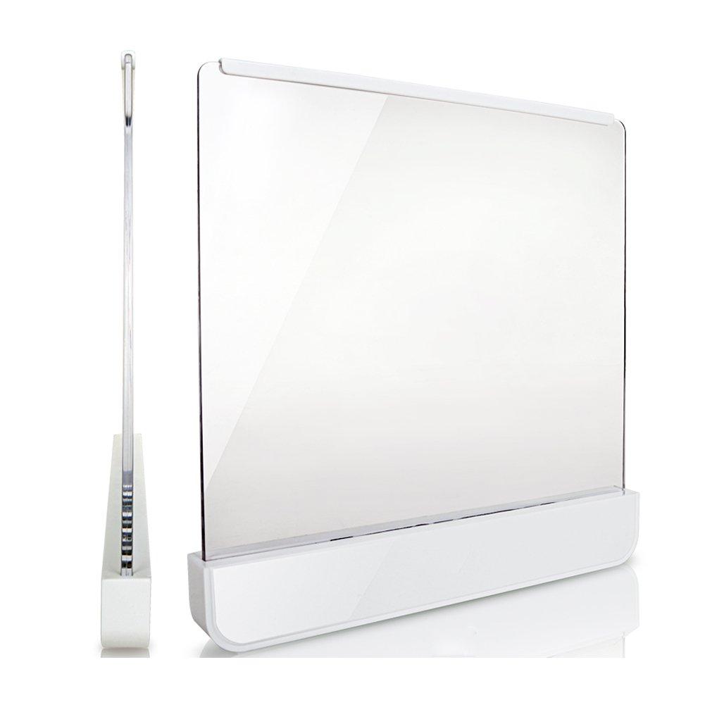 HaloVa Book Lights Ultra-Thin LED Panel Night Light Eye Protection Light Battery-Powered Book Reading Lamp