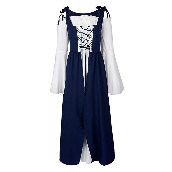 B Baosity Vestido Medieval Mujeres Cordones Vintage Cosplay ...