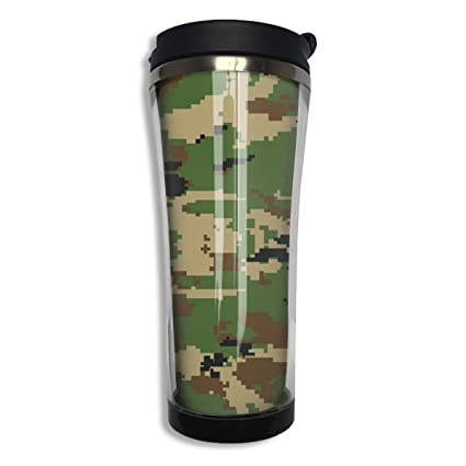 Amazon com   Stainless Steel 420 ML Army Green Camouflage 3D Print