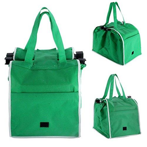 TOOGOO borsa riutilizzabile del carrello della borsa pieghevole della grande borsa della spesa per comperare il sacchetto della drogheria si inverdisce
