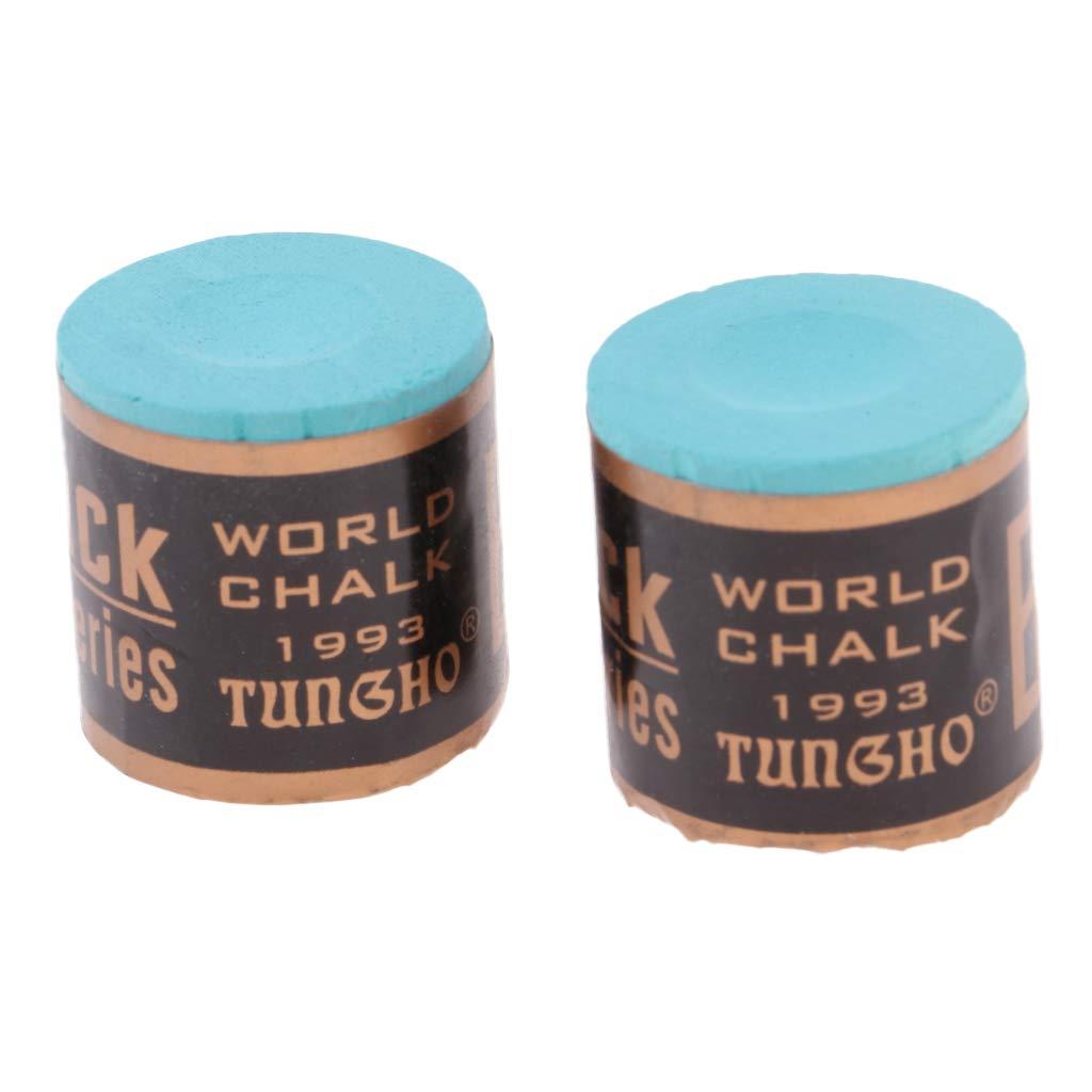perfk Accesorios de Billar Profesionales Pool Cue Chalk Caja de 2 Bloques Stick