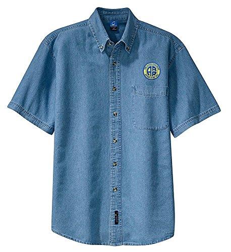 Alaska Railroad Short Sleeve Embroidered Denim Adult 4XL [den26SS]