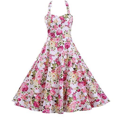 70s pink dress - 1