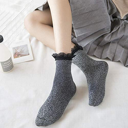 Amazon.com: DeemoShop Style Women Glitter Socks Spring Lace Trim Socks Fashion Female Gold Silver Shiny Sox Calcetines Teen: Kitchen & Dining