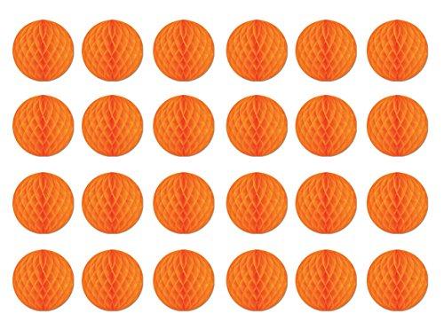 Beistle 55612-O 24-Piece Tissue Balls, 12-Inch
