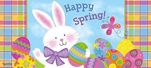 Evergreen Happy Spring Bunny Decorative Floor Mat Insert, 10