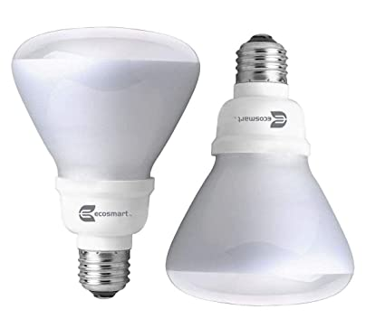 EcoSmart Soft White BR30 CFL Light Bulb 65W Equivalent 2 Pack
