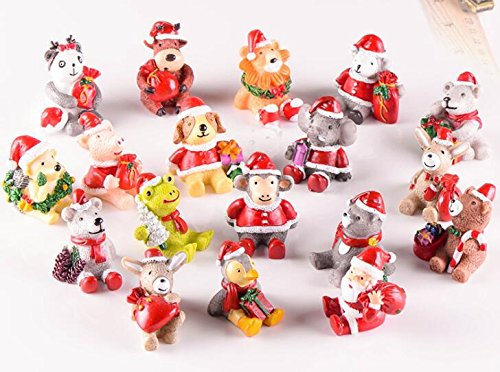 BUNITA,18pcs\set, Zakka Ornament Accessory, Simulation Christmas ornament, For Micro World Accessory\ Miniature Craft\ Home Decor ,Christmas Dollhouse - Zombie Zoo Keeper Costume