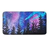 CIGOCI Non-Slip Memory Foam Bath Rugs, 3D Print Stranger Galaxy Starry Forest Trees Thing - 18 x 36 Inch, Extra Absorbent,Soft,Duarable and Quick-Dry Shaggy Rugs