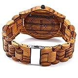 GBlife-Bewell-ZS-W086B-Mens-Wooden-Watch-Analog-Quartz-Lightweight-Handmade-Wood-Wrist-Watch