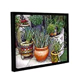Linda Parker's Southwest Potted Garden, Gallery Wrapped Floater-Framed canvas 14x18