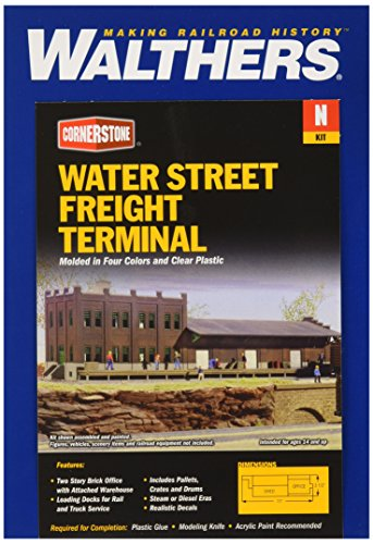 "Walthers, Inc. Water Street Freight Terminal Kit, 11 x 3-1/2"" 27.5 X 8.7cm"